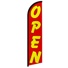 Open Windless Swooper Advertising Feather Flag Open Red Amp Yellow Sign