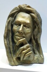"Marley Sculpture, Gypsum casting of original art work, bronze color, 7""x5""x4"
