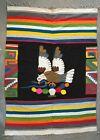 Vintage Oaxacan Mexican Blanket Wool Blanket / Rug hand woven