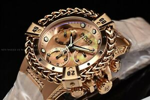 Invicta Womens 43mm Reserve Bolt Hercules Rose Gold MOP Chronograph Swiss Watch