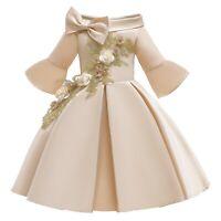 Girls Party Dress Wedding Kids Flower Girl Princess Dresses Formal Xmas Gifts