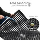 "Heavy Duty Floor Mat Anti Fatigue Kitchen Bar Rubber Drainage Black 36"" x 60"""