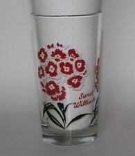 Vintage Boscul Peanut Butter Glass Tumbler 10 oz SWEET WILLIAM - Name Bottom