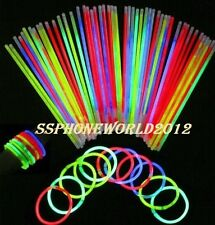 "100 x 8"" Glow Sticks Bracelets Necklaces Party Favors Neon Color"