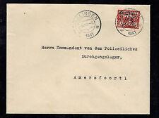 1941 harlingen Holland Cover to Commandant Amersfoort Concentration Camp KZ