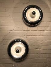 2x Sölken UFO Wandlampe Deckenlampe Chrom Space Age Lampe Paar 70er Jahre Design