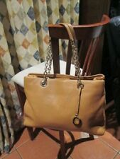 NEW OROTON ALPINE chain tote style shopper tan leather handbag bag rrp $695!