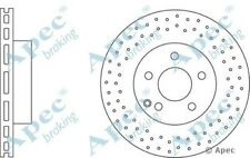 1x OE Quality Replacement Front Axle Apec Vented Brake Disc 5 Stud 295mm - Pair