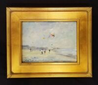 Kites on the Beach Colorful Original Oil Painting Seascape Beach Painting...