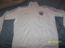 Adidas Men's DFB Germany 3S Track Jacket sz XL White Soccer Football BNWT