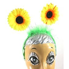 Sunflower Flower Headpiece Antenna With Yellow Flowers Costume Bobber CLOSEOUT