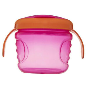 Heinz Baby Basics Non Spill Baby Snack Feeding Pot Container Food Cup Pink/OR