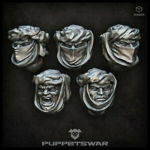 Desert Troopers heads Five models Puppetswar S214