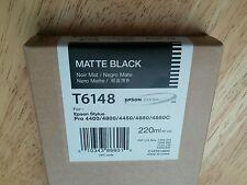 11-2014 NIB GENUINE EPSON T6148 MATTE BLACK K3 INK 220ml STYLUS PRO 4800 4880