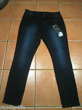 NEW! womens CITY CHIC hourglass skinny leg style dark denim jeans SZ 18 S