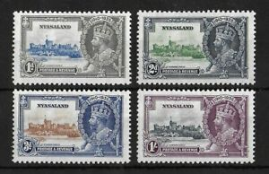 NYASALAND 1935 Mint LH Silver Jubilee Complete Set of 4 SG #123-126