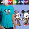 Hipster Disney Mickey Minnie Mouse Couple Cute Unisex Mens Tee T-Shirt Cartoon