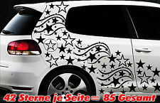 85 Sterne Star Auto Aufkleber Set Sticker Tuning Fee Stylin WandtattooTribel l