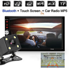 2 DIN 7 Inch Bluetooth Car Stereo Touch Screen MP5 Player GPS + Rear View Camera
