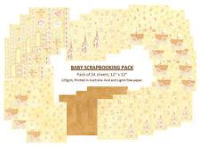 "SCRAPBOOKING PAPER, Baby Theme, Mixed 24, 30cm x 30cm, 12"" x 12"""
