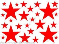 52 RED STARS VINYL GIRLS BEDROOM WALL DECALS STICKERS Teen Girl Baby Nursery