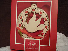 Lenox Christmas Wrappings Dove ornament no date Nib! Perfect!
