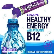ZipFizz All Natural  Energy Drink Mix - GRAPE (30 Tubes) *** FREE SHIPPING ***