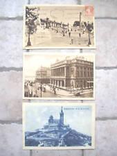 3 CPA: Marseille:Notre-Dame de la Garde, Palais de la Bourse, gare St-Charles