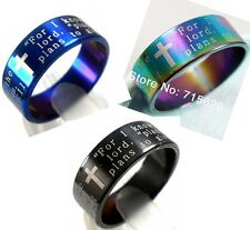 18  jeremiah 2911 english text  stainless steel rings jewelry lots wholesale