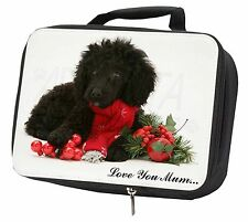 Poodle, Christmas Decorations 'Love You Mum' Black Insulated Scho, AD-POD3lymLBB