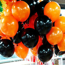 6x Orange Black Halloween Latex Balloons Birthday Wedding Party Decoration 10""