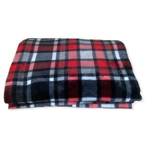 Kirkland's Oversized Plush Plaid Throw Blanket Warm Cozy Fall Winter