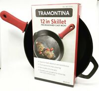 "Tramontina 12"" Cast Iron Skillet with Silicone Grip"