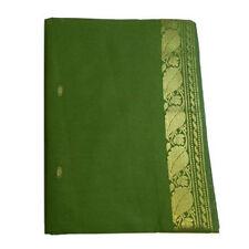 Sari verde oliva brocado dorado Bindi instrucciones de uso ropa típica India