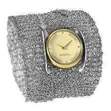 Orologio Breil Infnity TW1349 donna fondo oro doppia funzione bracciale collana