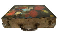 Vintage Wooden PAINTING ART CASE portable artist painters supply box