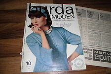 BURDA MODE 10/1964 -- WINTERMÄNTEL / junge Mode a la Paris / Vollschlanker Chic