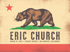 Eric Church Official Concert Poster Staples Center 2017 Limited Signed Numbered
