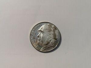 Lire 20 Benito Mussolini 1928 - fascismo - pseudo moneta commemorativa