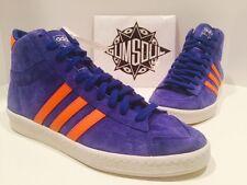 adidas originals kareem abdul jabbar mid blue suede orange d67388 sz 11.5