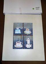 Amsel Küchenbild Kachel Charakter mit Kaffeemotiven  Neu in OVP