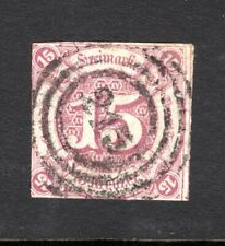 1859 THURN & TAXIS SOUTHERN DISTRICT sg66? 15K PURPLE IMPERF GOOD TO FINE USED