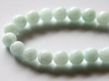 40pcs 10mm Round Gemstone Beads - Malaysian Jade - Opaque Pale Aqua