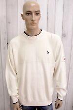 US POLO ASSN. Uomo Taglia L Maglione Lana Sweater Pullover Maglietta Maglia Man