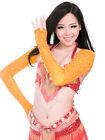 Women Belly Dance Diamond Shrug Arm Gloves Armbands Rhinestone Sleeves 9 colors
