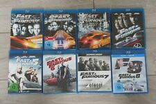 The Fast and the Furious Blu Ray Bluray 1-8 Tokyo Drift alle Teile Paul Walker