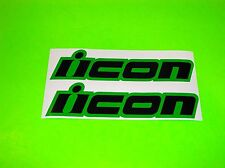 GREEN & BLACK ICON HONDA SUZUKI YAMAHA KAWASAKI MOTORCYCLE DECALS STICKERS
