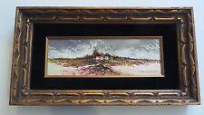 Guiomar Kissen Original Oil Painting Impressionism Panoramic Beach Villa