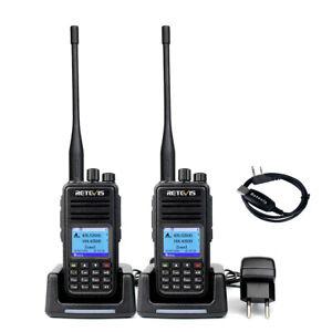 Retevis RT3S Dual Band DMR Amateur Walkie Talkie Analog/Digital Funkgerät VOX