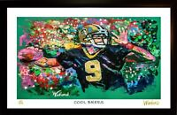 SALE DREW BREES L.E. 121/199 PREMIUM ART PRINT SIGNED BY ARTIST, WINFORD